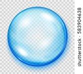 big transparent light blue... | Shutterstock .eps vector #583904638