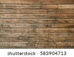 exterior weathered wooden wall... | Shutterstock . vector #583904713