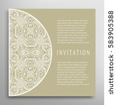 invitation or card with lace... | Shutterstock .eps vector #583905388