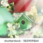 spring outdoors sun light...   Shutterstock . vector #583909864