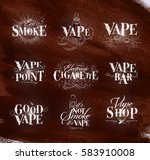 poster with vaporizer in... | Shutterstock .eps vector #583910008