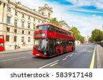 Modern Red Double Decker Bus ...