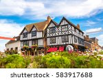 half timbered house in... | Shutterstock . vector #583917688