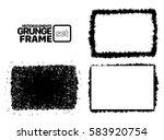 grunge frame texture set  ... | Shutterstock .eps vector #583920754