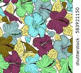 Aloha Typography With Hibiscus...