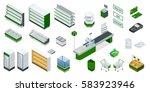 vector isometric supermarket... | Shutterstock .eps vector #583923946