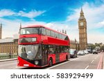 big ben  westminster bridge and ... | Shutterstock . vector #583929499