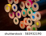 unsharpened end of color... | Shutterstock . vector #583932190