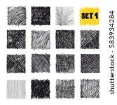doodles set. scribble... | Shutterstock .eps vector #583934284
