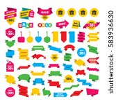 web stickers  banners and... | Shutterstock . vector #583936630