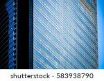windows of commercial building... | Shutterstock . vector #583938790