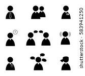 business people icon set | Shutterstock .eps vector #583941250