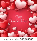 happy valentines day frame... | Shutterstock . vector #583943380