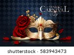 Venice Carnival Poster  Golden...