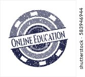 blue online education... | Shutterstock .eps vector #583946944