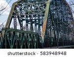 Close Up Of Rusty Old Bridge