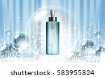 cosmetic cleanser ad contained... | Shutterstock .eps vector #583955824