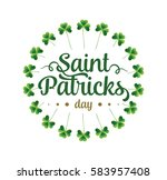 saint patricks day. 17 march.... | Shutterstock .eps vector #583957408