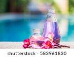 bottle of aroma essential oil...   Shutterstock . vector #583961830