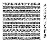 arabic frame ornament  pattern... | Shutterstock .eps vector #583962226