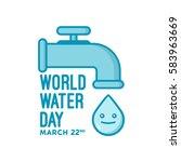 illustration of world water day ... | Shutterstock .eps vector #583963669