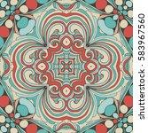 seamless abstract pattern  hand ... | Shutterstock .eps vector #583967560
