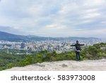panoramic view of taipei city... | Shutterstock . vector #583973008