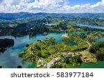 panoramic view from rock of... | Shutterstock . vector #583977184
