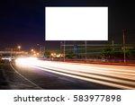 billboard blank for outdoor... | Shutterstock . vector #583977898