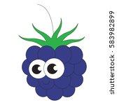 funny blackberry cartoon.... | Shutterstock .eps vector #583982899