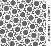 white gears. grey background.... | Shutterstock .eps vector #583988464