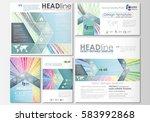 social media posts set.... | Shutterstock .eps vector #583992868