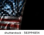 usa flag background with... | Shutterstock . vector #583994854