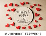 happy women's day message with... | Shutterstock . vector #583995649