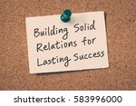 business relationship building... | Shutterstock . vector #583996000