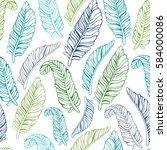 tropical trendy seamless... | Shutterstock .eps vector #584000086