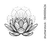 lotus flower. intricate... | Shutterstock .eps vector #584000626