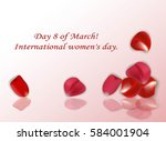 gift card with rose petals | Shutterstock .eps vector #584001904