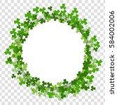 Green Clover Saint Patrick Day...