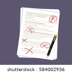 bad score of the test  with the ... | Shutterstock .eps vector #584002936