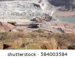 coal production at one of the... | Shutterstock . vector #584003584