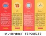 e commerce vertical banner... | Shutterstock .eps vector #584005153