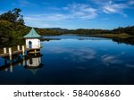 reflection of gregory lake in... | Shutterstock . vector #584006860