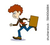 ridiculous caricature ... | Shutterstock .eps vector #584006884