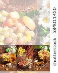 Collage From Fruits. Juice ...