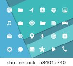 modern smartphone icons set....