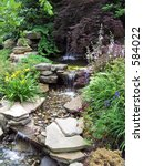Small Stepped Waterfall In A...