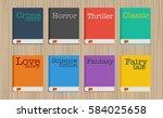 set of fiction genre icons... | Shutterstock .eps vector #584025658