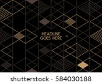 vector of abstract geometric... | Shutterstock .eps vector #584030188