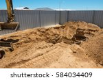 excavation works for the... | Shutterstock . vector #584034409